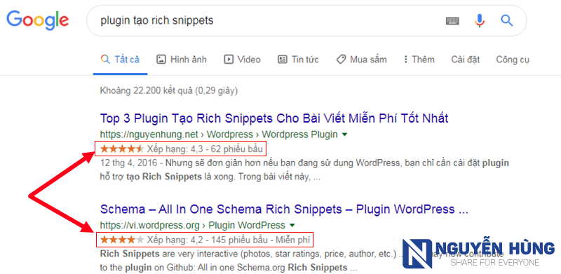hien-thi-ket-qua-danh-dau-sao-tren-google