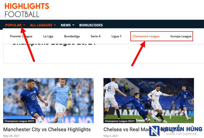 xem-highlight-bong-da-tren-highlights-football